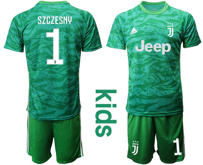 Youth 2019-2020 club Juventus green goalkeeper 1 Soccer Jerseys