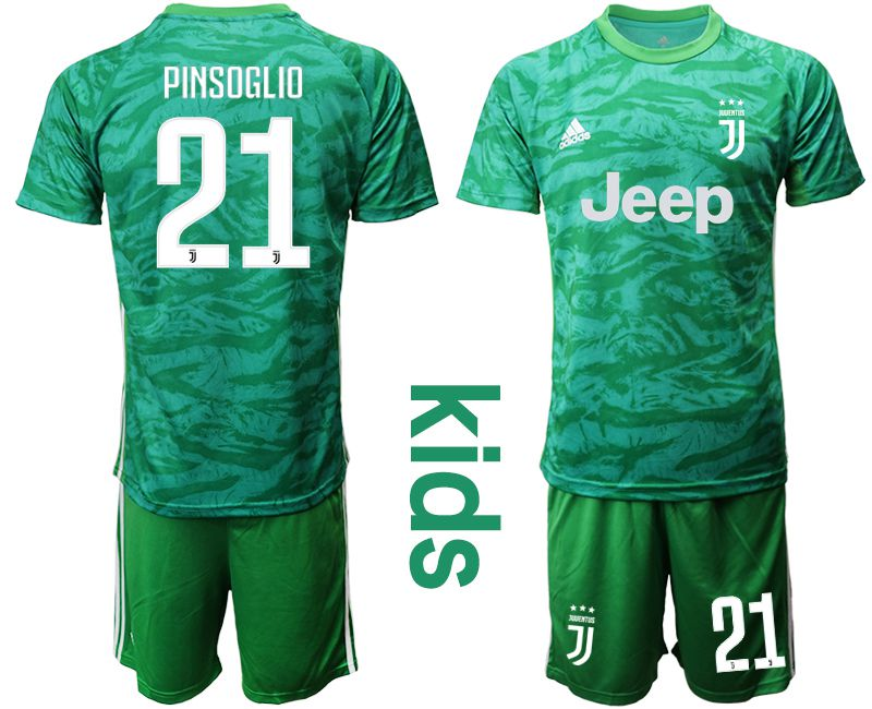 Youth 2019-2020 club Juventus green goalkeeper 21 Soccer Jerseys