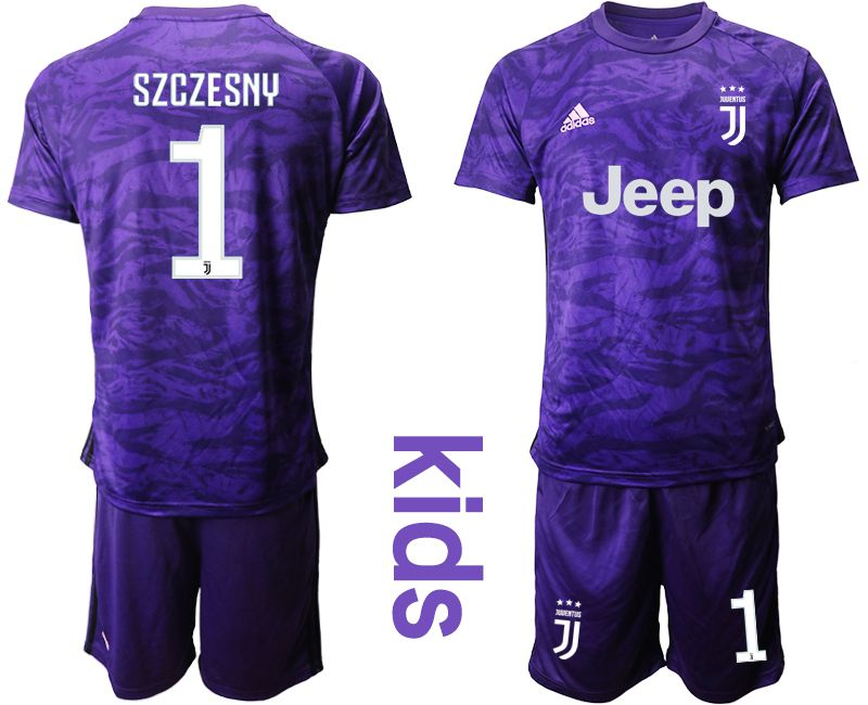 Youth 2019-2020 club Juventus purple goalkeeper 1 Soccer Jerseys