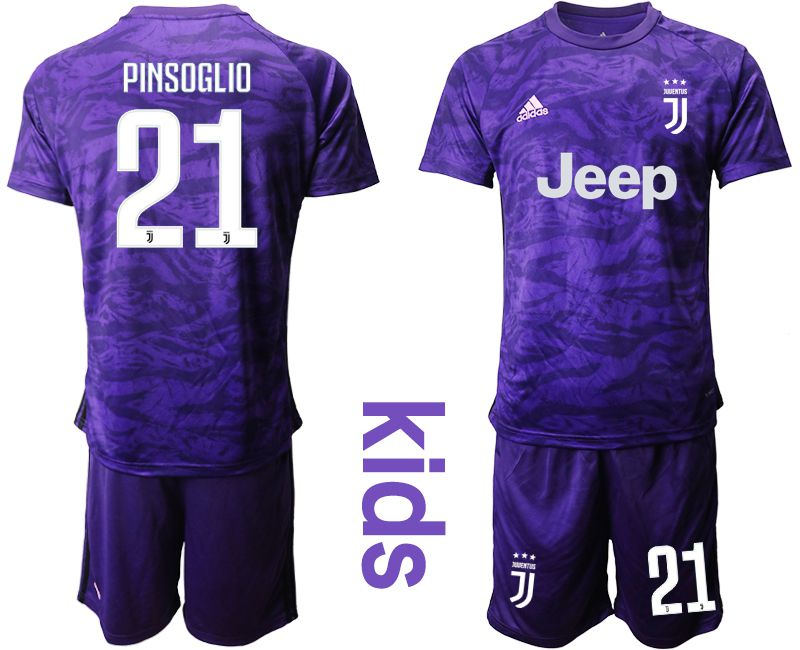 Youth 2019-2020 club Juventus purple goalkeeper 21 Soccer Jerseys