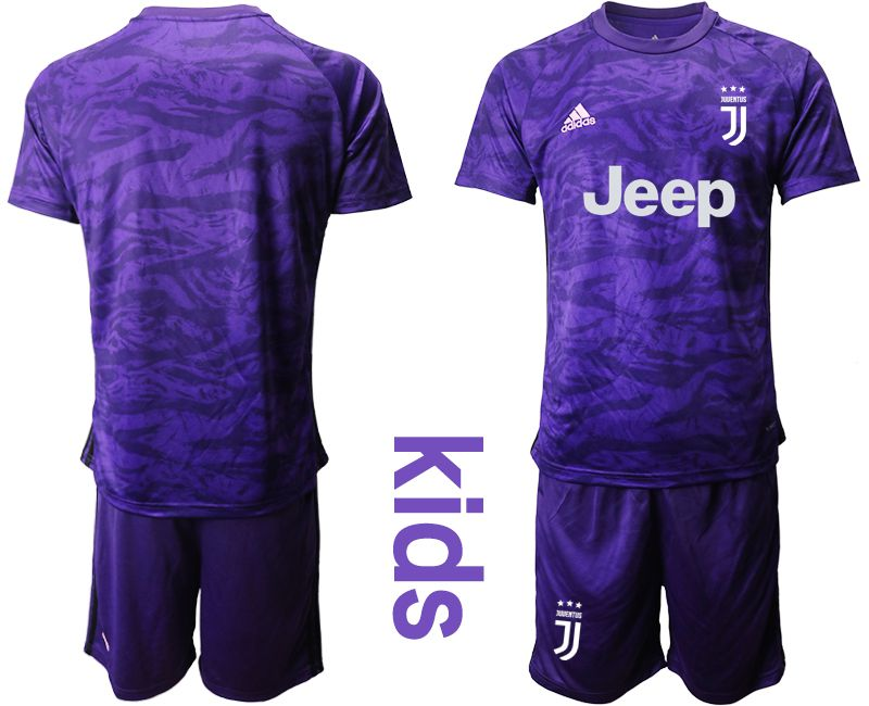 Youth 2019-2020 club Juventus purple goalkeeper Soccer Jerseys