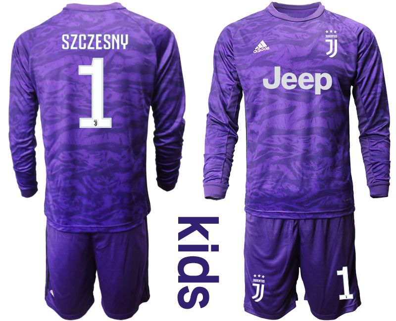 Youth 2019-2020 club Juventus purple long sleeved Goalkeeper 1 Soccer Jerseys