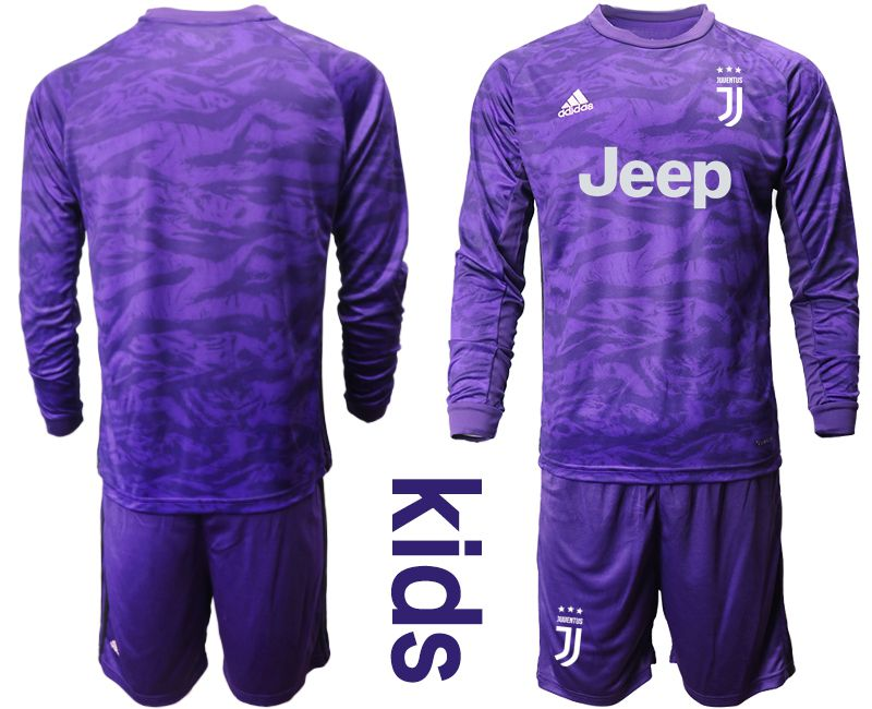 Youth 2019-2020 club Juventus purple long sleeved Goalkeeper Soccer Jerseys
