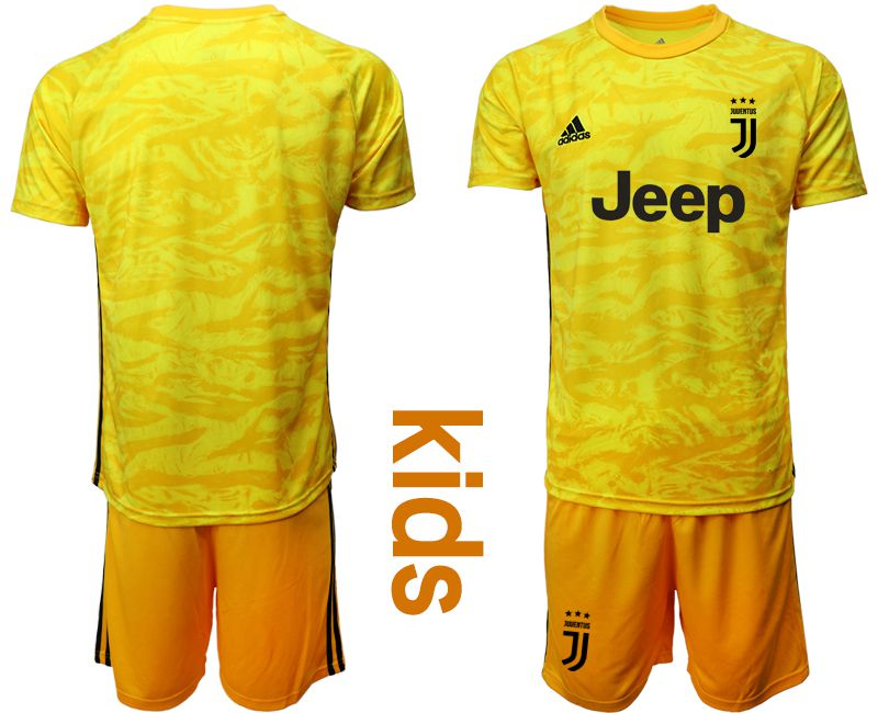Youth 2019-2020 club Juventus yellow goalkeeper Soccer Jerseys