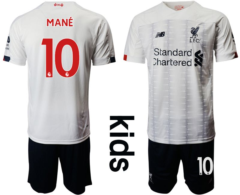 Youth 2019-2020 club Liverpool away 10 white Soccer Jerseys