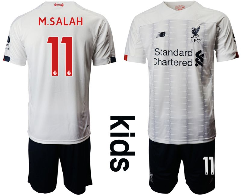 Youth 2019-2020 club Liverpool away 11 white Soccer Jerseys