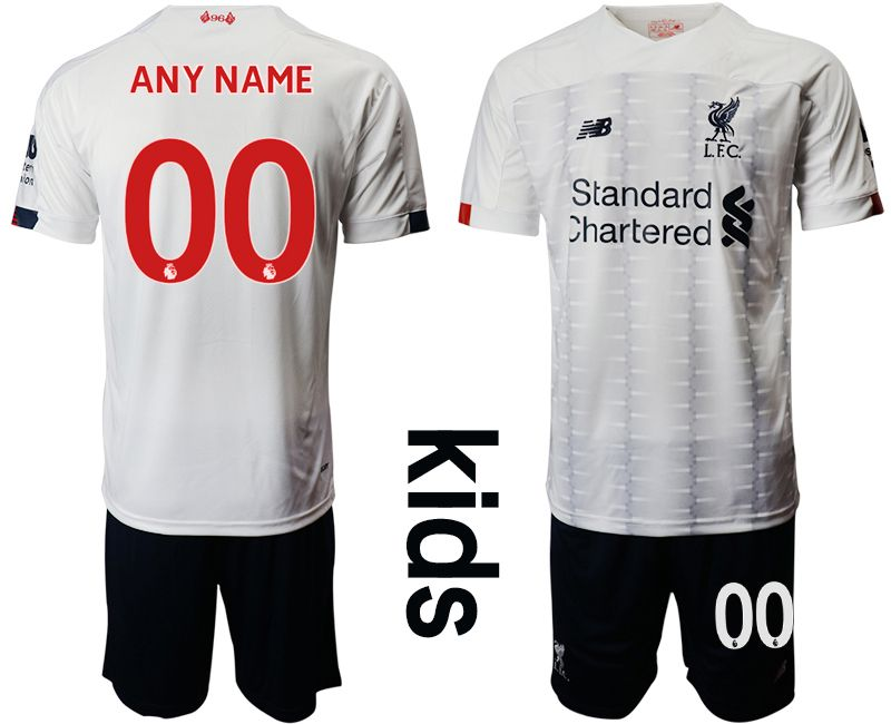 Youth 2019-2020 club Liverpool away customized white Soccer Jerseys