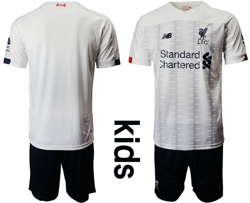 Youth 2019-2020 club Liverpool away white Soccer Jerseys