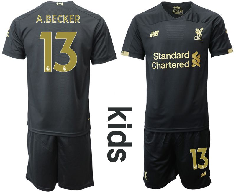 Youth 2019-2020 club Liverpool black goalkeeper 13 Soccer Jerseys