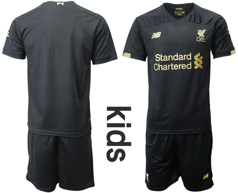 Youth 2019-2020 club Liverpool black goalkeeper Soccer Jerseys
