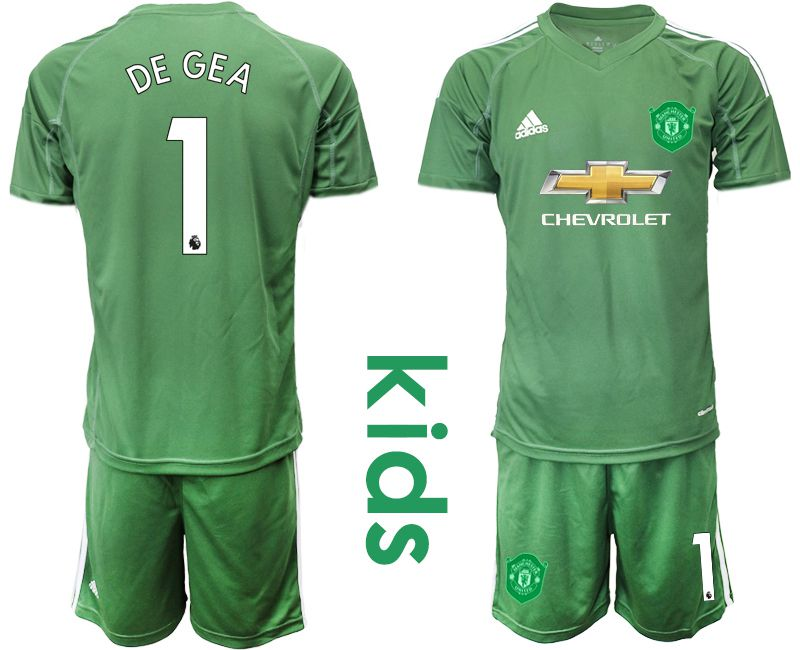 Youth 2019-2020 club Manchester United army green goalkeeper 1 Soccer Jerseys