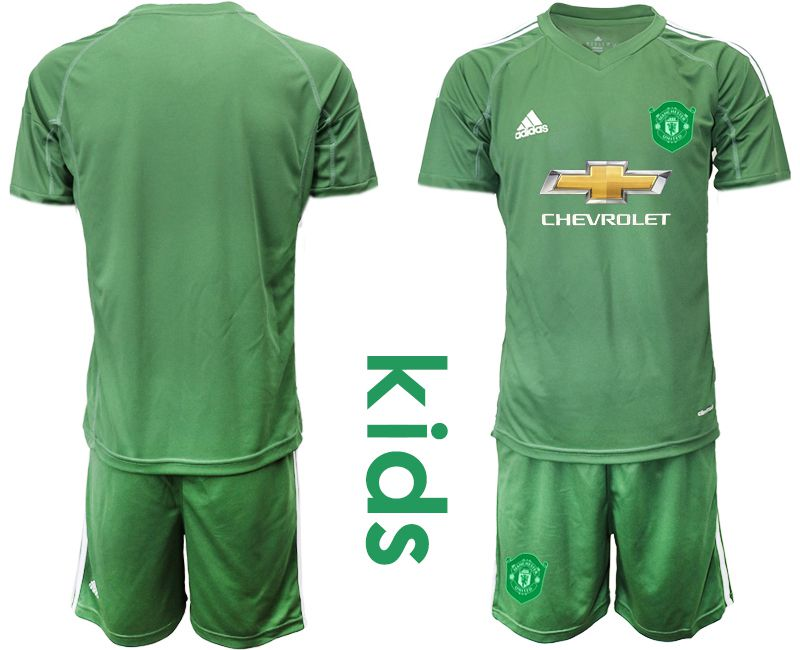 Youth 2019-2020 club Manchester United army green goalkeeper Soccer Jerseys