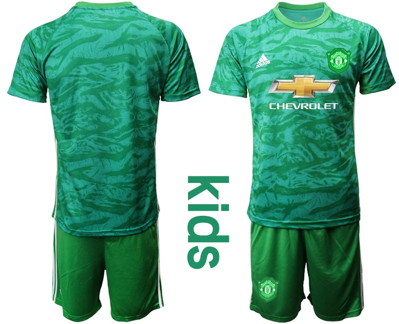 Youth 2019-2020 club Manchester United green goalkeeper Soccer Jerseys