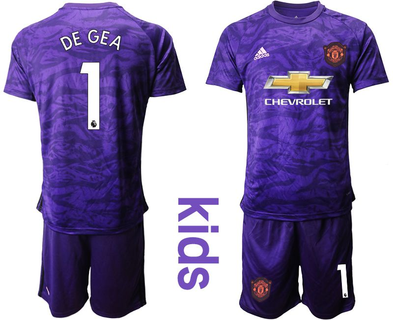 Youth 2019-2020 club Manchester United purple goalkeeper 1 Soccer Jerseys