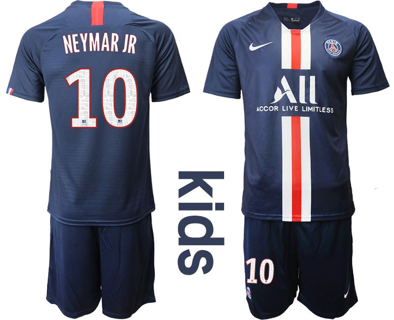 Youth 2019-2020 club Paris Saint Germain home 10 blue Soccer Jerseys