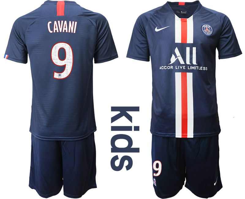 Youth 2019-2020 club Paris Saint Germain home 9 blue Soccer Jerseys