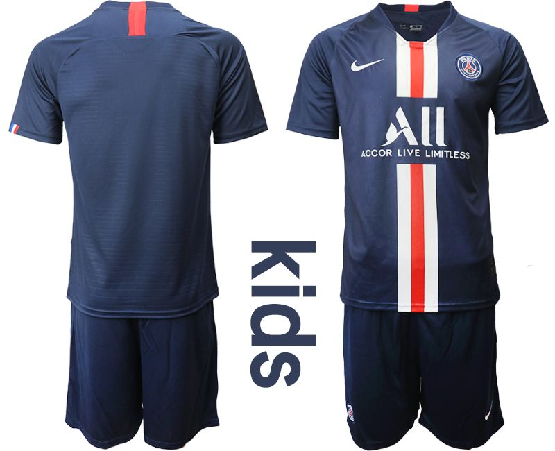 Youth 2019-2020 club Paris Saint Germain home blue Soccer Jerseys