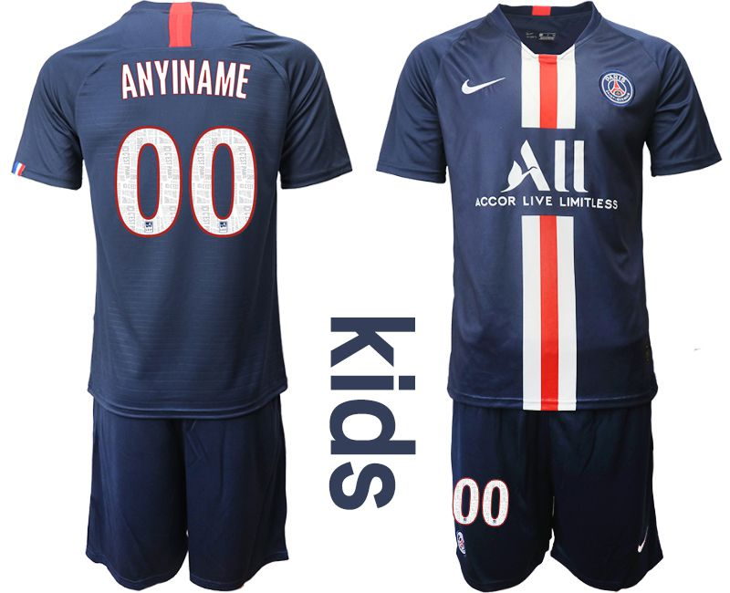 Youth 2019-2020 club Paris Saint Germain home customized blue Soccer Jerseys