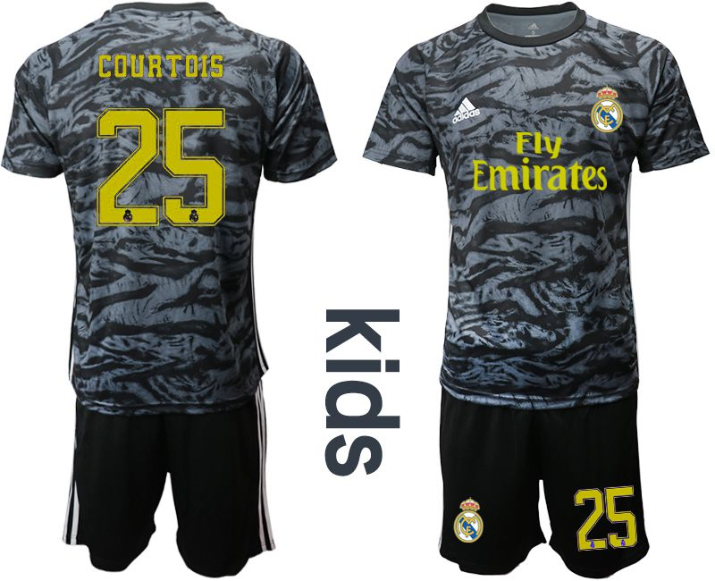 Youth 2019-2020 club Real Madrid black goalkeeper 25 Soccer Jerseys