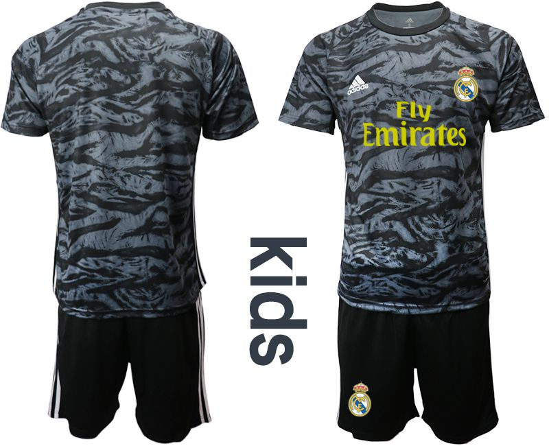 Youth 2019-2020 club Real Madrid black goalkeeper Soccer Jerseys