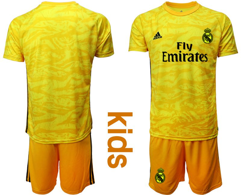 Youth 2019-2020 club Real Madrid yellow goalkeeper Soccer Jerseys