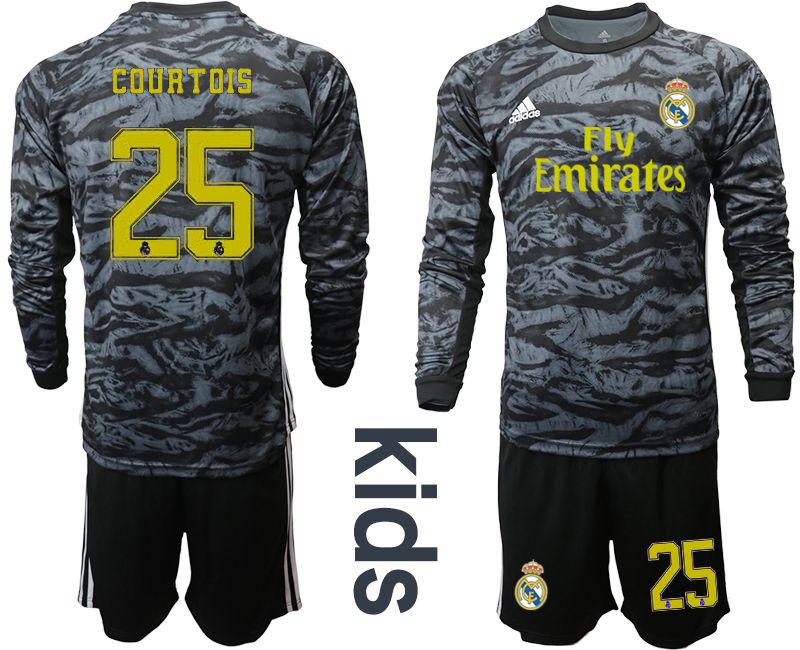 Youth 2019-2020 club Real Madrid black long sleeve goalkeeper 25 Soccer Jerseys