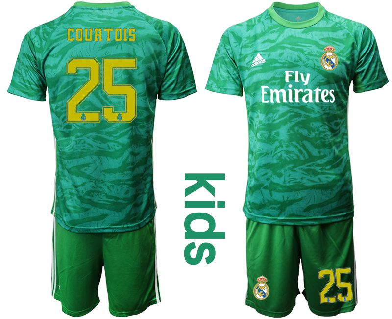 Youth 2019-2020 club Real Madrid green goalkeeper 25 Soccer Jerseys