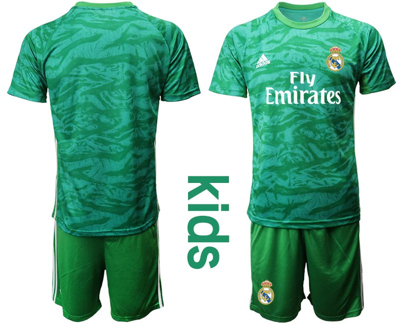 Youth 2019-2020 club Real Madrid green goalkeeper Soccer Jerseys