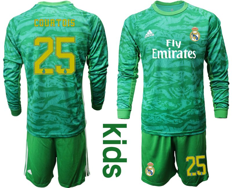 Youth 2019-2020 club Real Madrid green goalkeeper long sleeve 25 Soccer Jerseys
