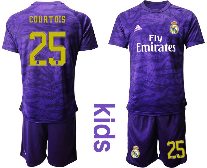 Youth 2019-2020 club Real Madrid purple Goalkeeper 25 Soccer Jerseys