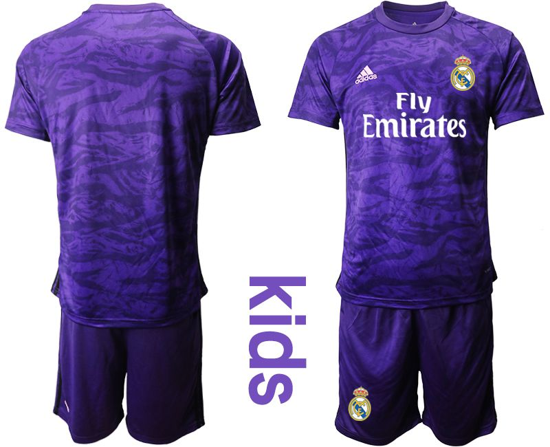 Youth 2019-2020 club Real Madrid purple Goalkeeper Soccer Jerseys