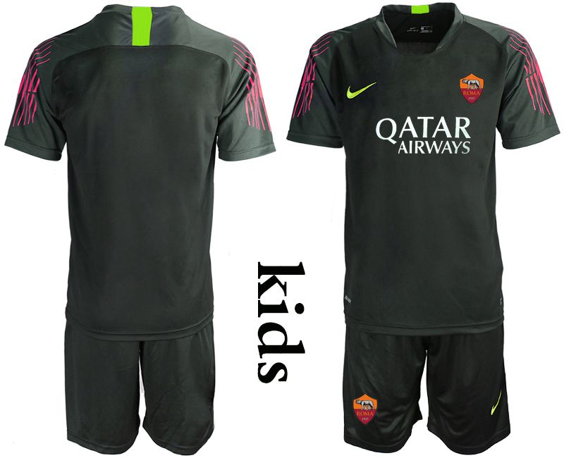 Youth 2019-2020 club Roman black goalkeeper Soccer Jerseys