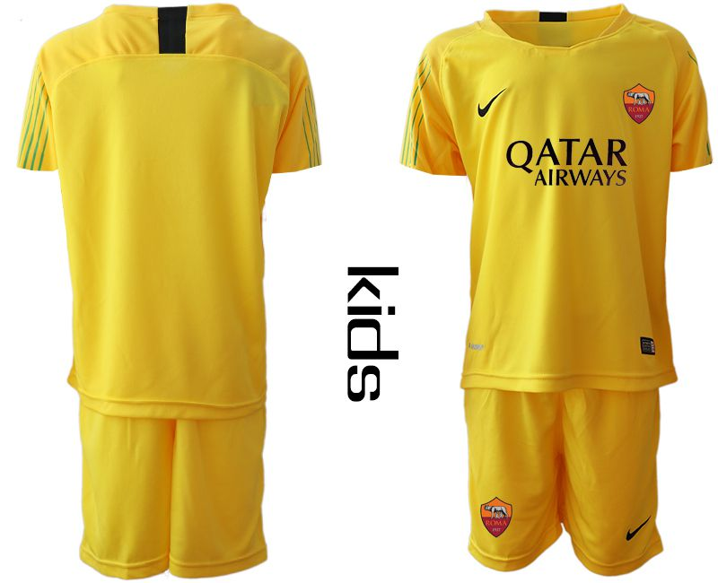 Youth 2019-2020 club Rome yellow goalkeeper Soccer Jerseys