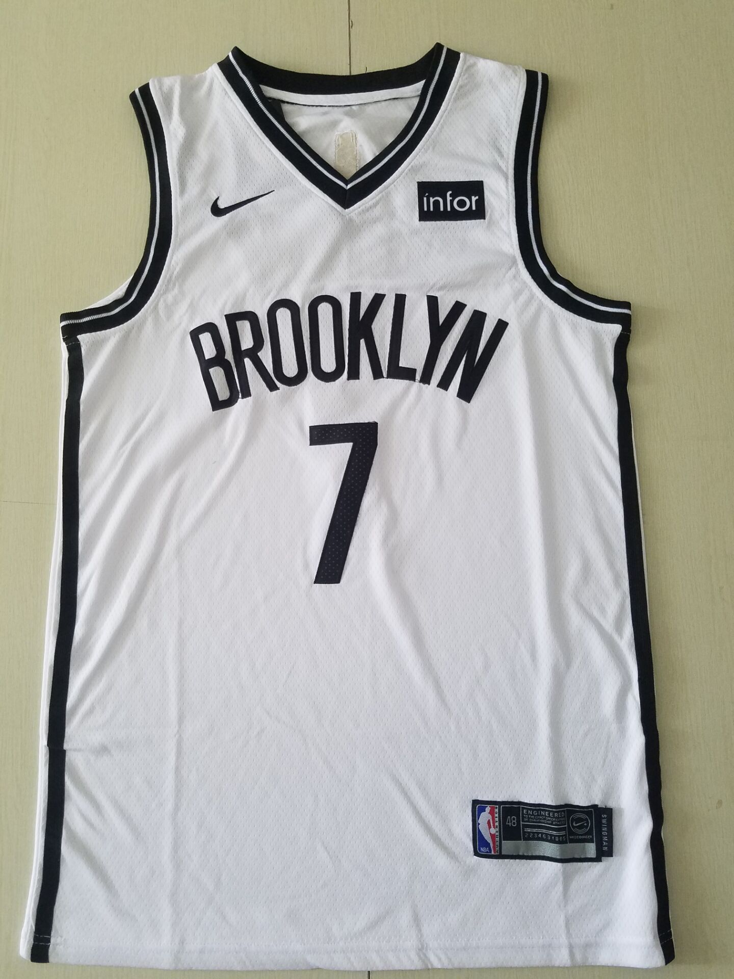 Youth Brooklyn Nets 7 Burant white Nike Game NBA Jerseys