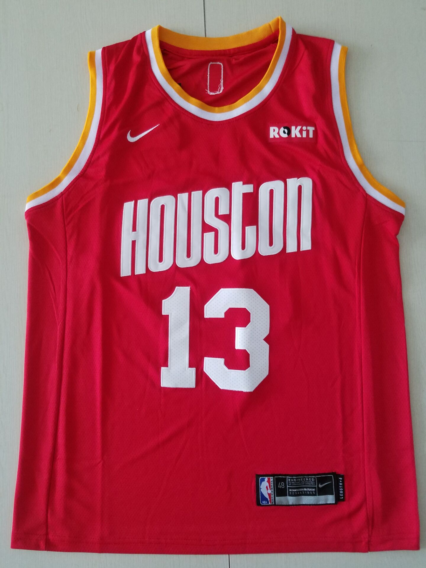 Youth Houston Rockets 13 Harden Red Game Nike NBA Jerseys 2