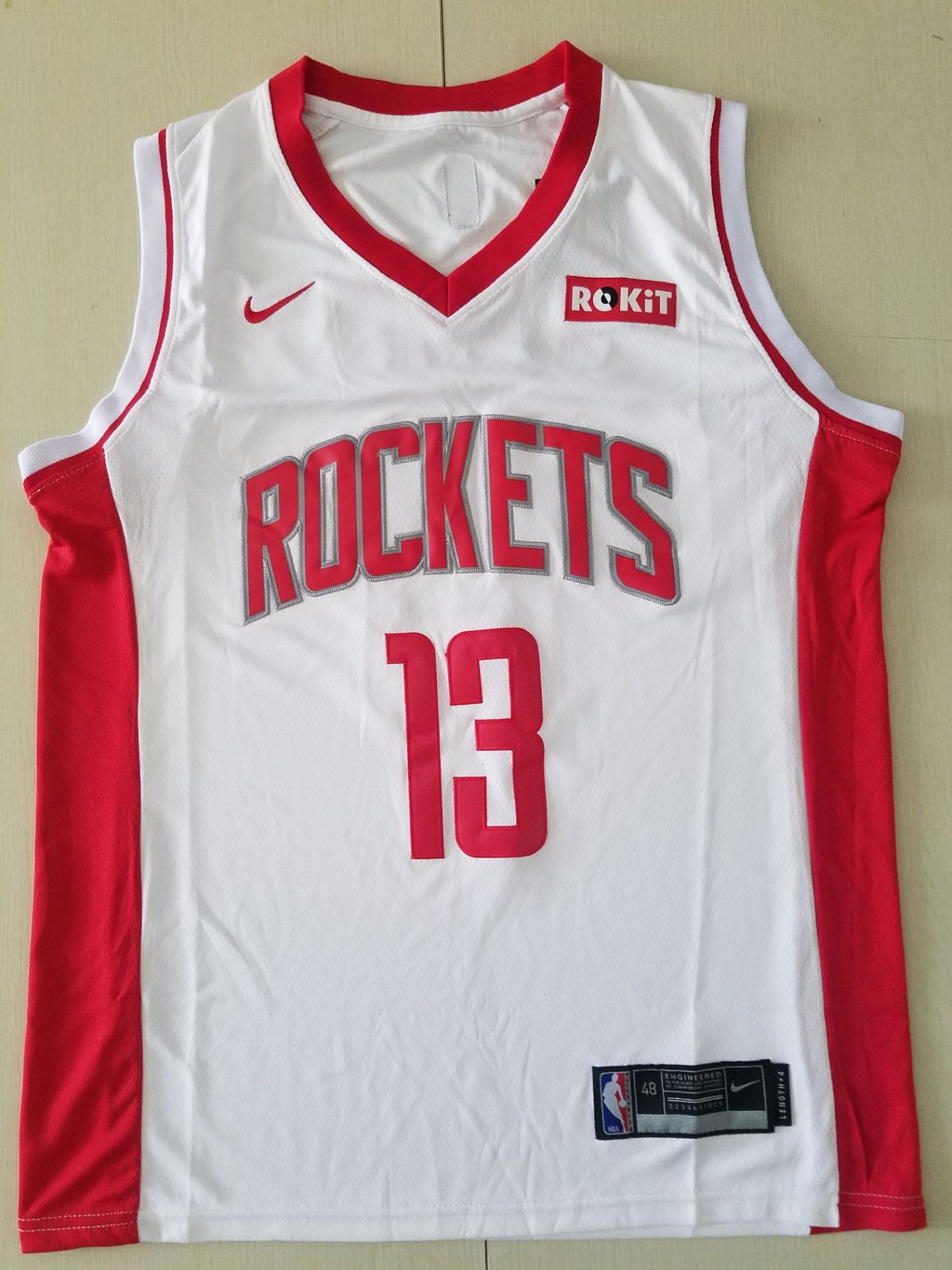 Youth Houston Rockets 13 Harden white Game Nike NBA Jerseys
