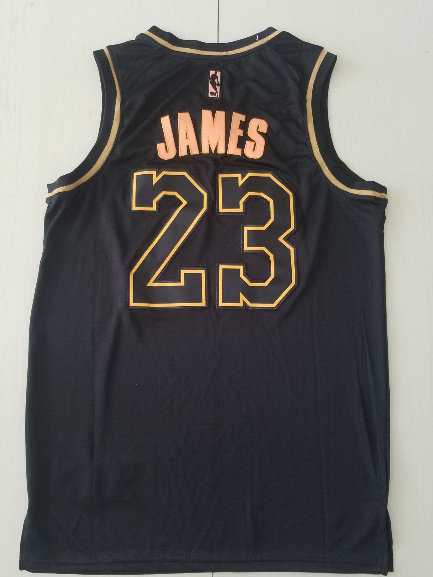 Youth NBA Los Angeles Lakers 23 James black golden limited NBA Nike Jerseys