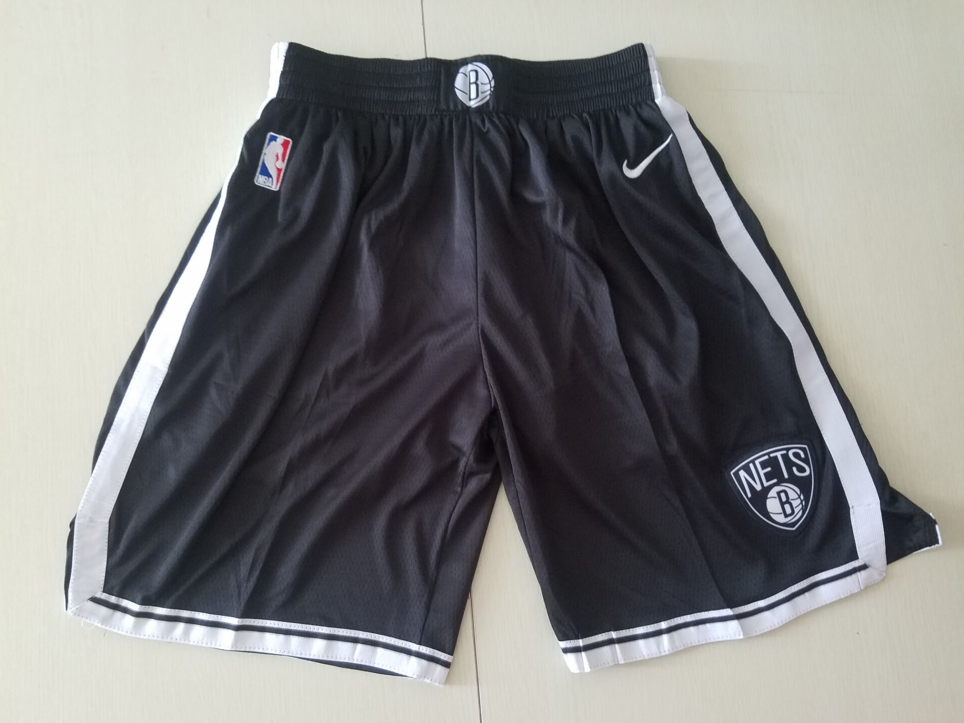 Youth NBA Nike Brooklyn Nets white shorts style2
