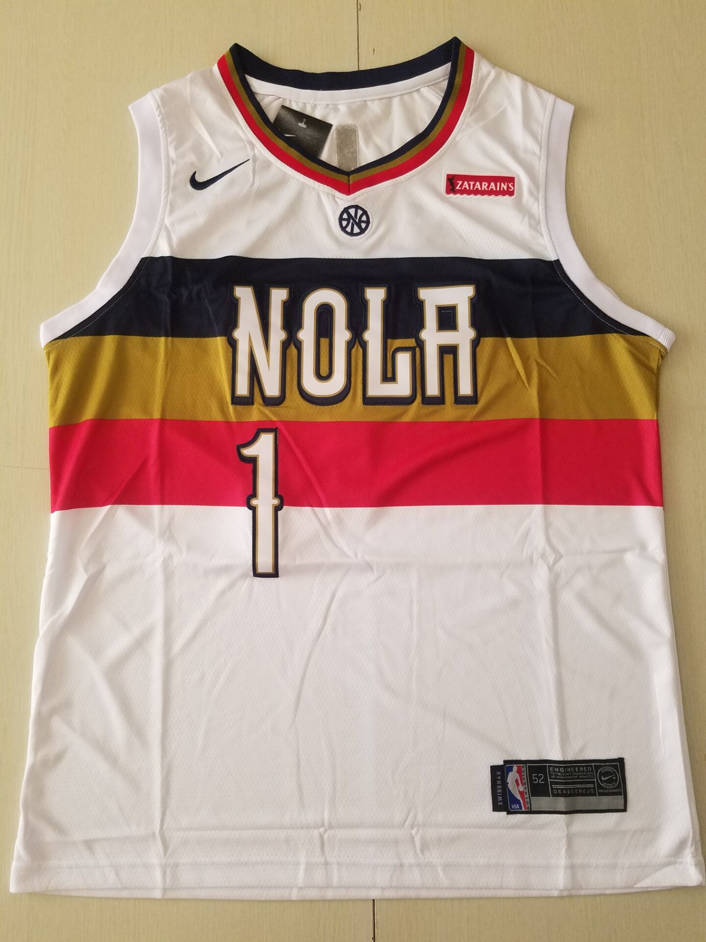 Youth New Orleans Pelicans 1 Williamson White Game Nike NBA Jerseys