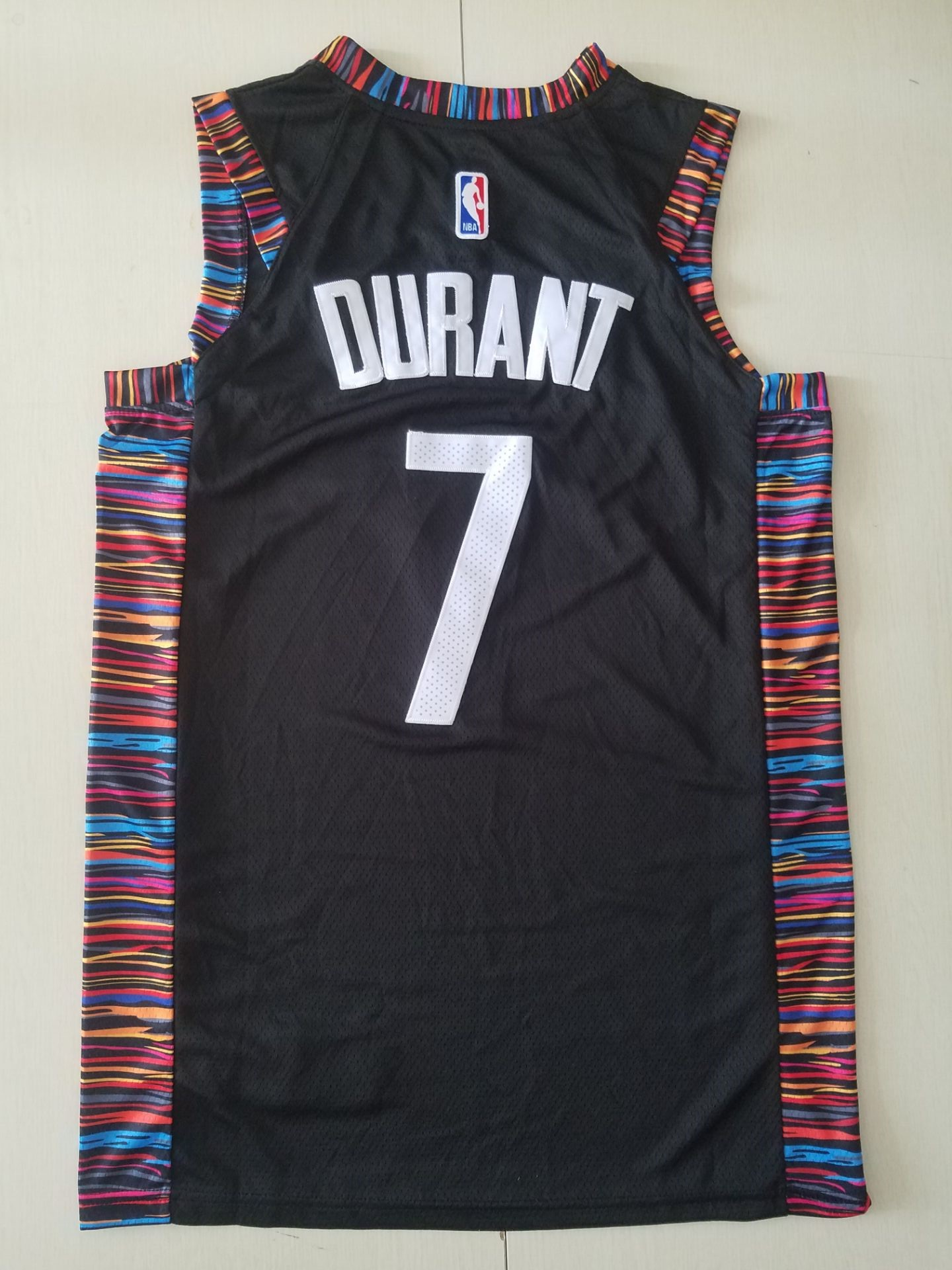 youth Brooklyn Nets 7 Durant Black City Edition Game Nike NBA Jerseys