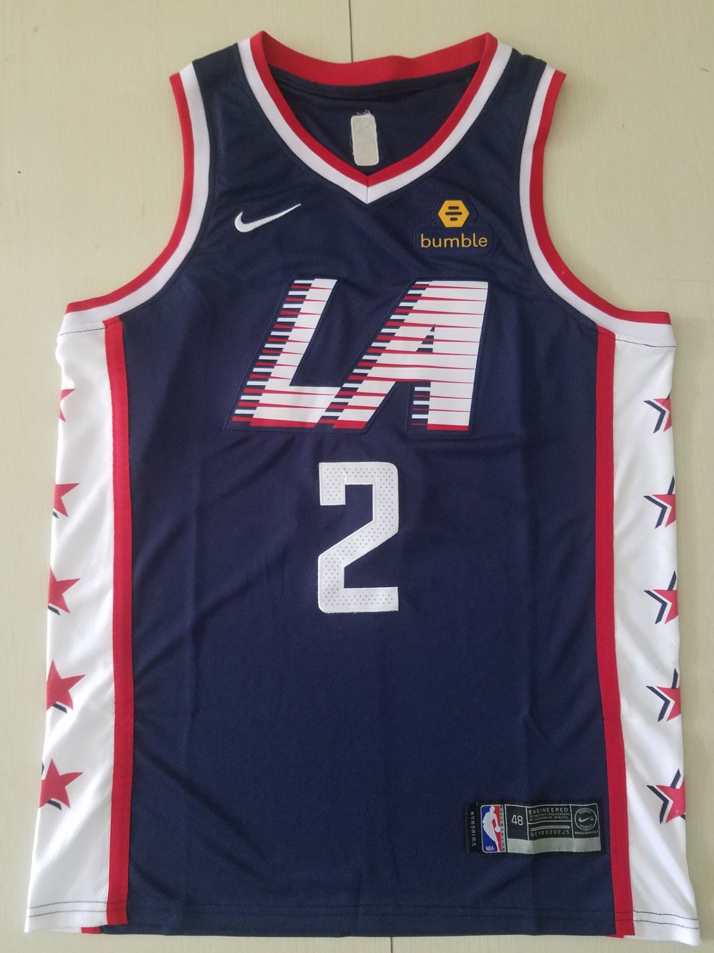 youth Los Angeles Clippers 2 Leonard Blue City Edition Game Nike NBA Jerseys