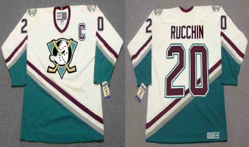 2019 Men Anaheim Ducks 20 Rucchin black CCM NHL jerseys