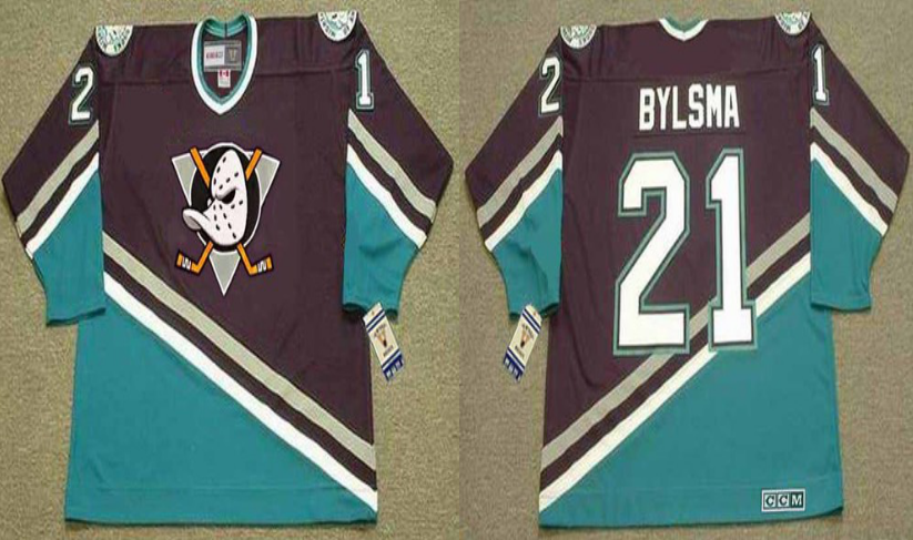 2019 Men Anaheim Ducks 21 Bylsma black CCM NHL jerseys