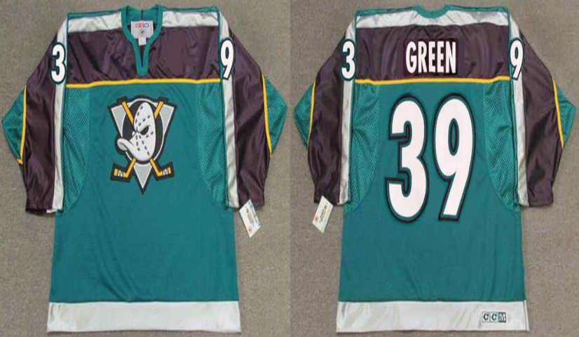 2019 Men Anaheim Ducks 39 Green green CCM NHL jerseys