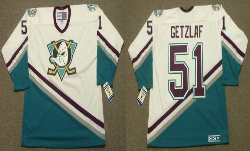 2019 Men Anaheim Ducks 51 Getzlaf white CCM NHL jerseys