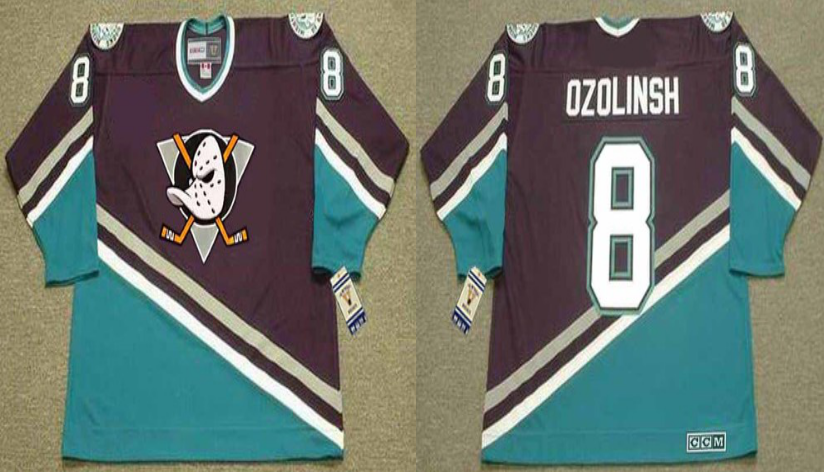2019 Men Anaheim Ducks 8 Ozolinsh black CCM NHL jerseys