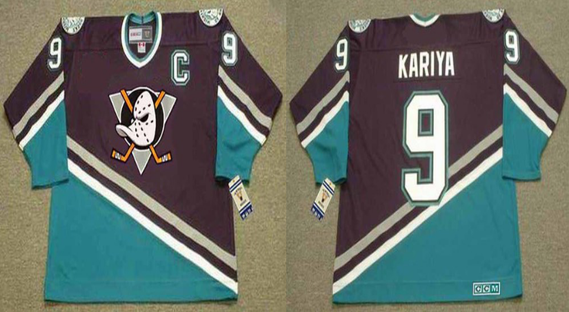 2019 Men Anaheim Ducks 9 Kariya black CCM NHL jerseys