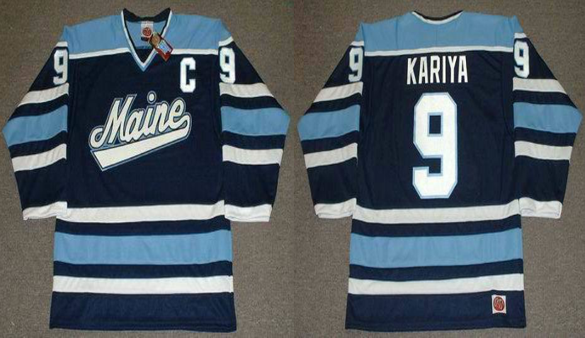 2019 Men Anaheim Ducks 9 Kariya blue CCM NHL jerseys
