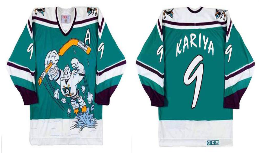 2019 Men Anaheim Ducks 9 Kariya green CCM NHL jerseys