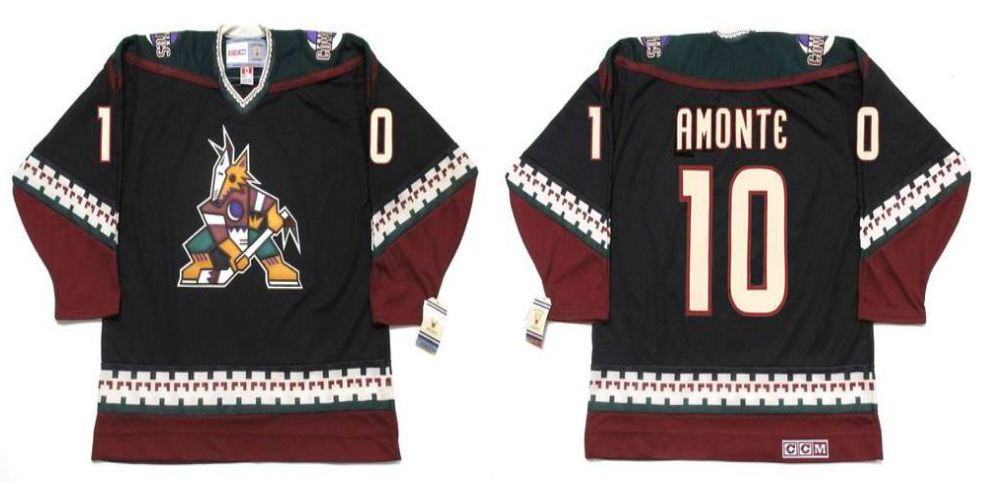2019 Men Arizona Coyotes 10 Amonte Black CCM NHL jerseys